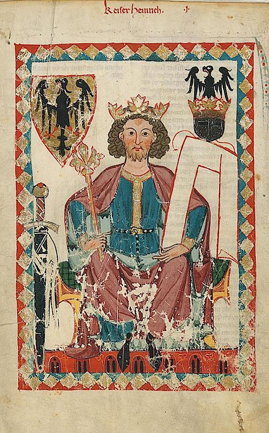 Der Staufer Kaiser Heinrich VI. (1165-1197), Sohn Friedrich I. B
