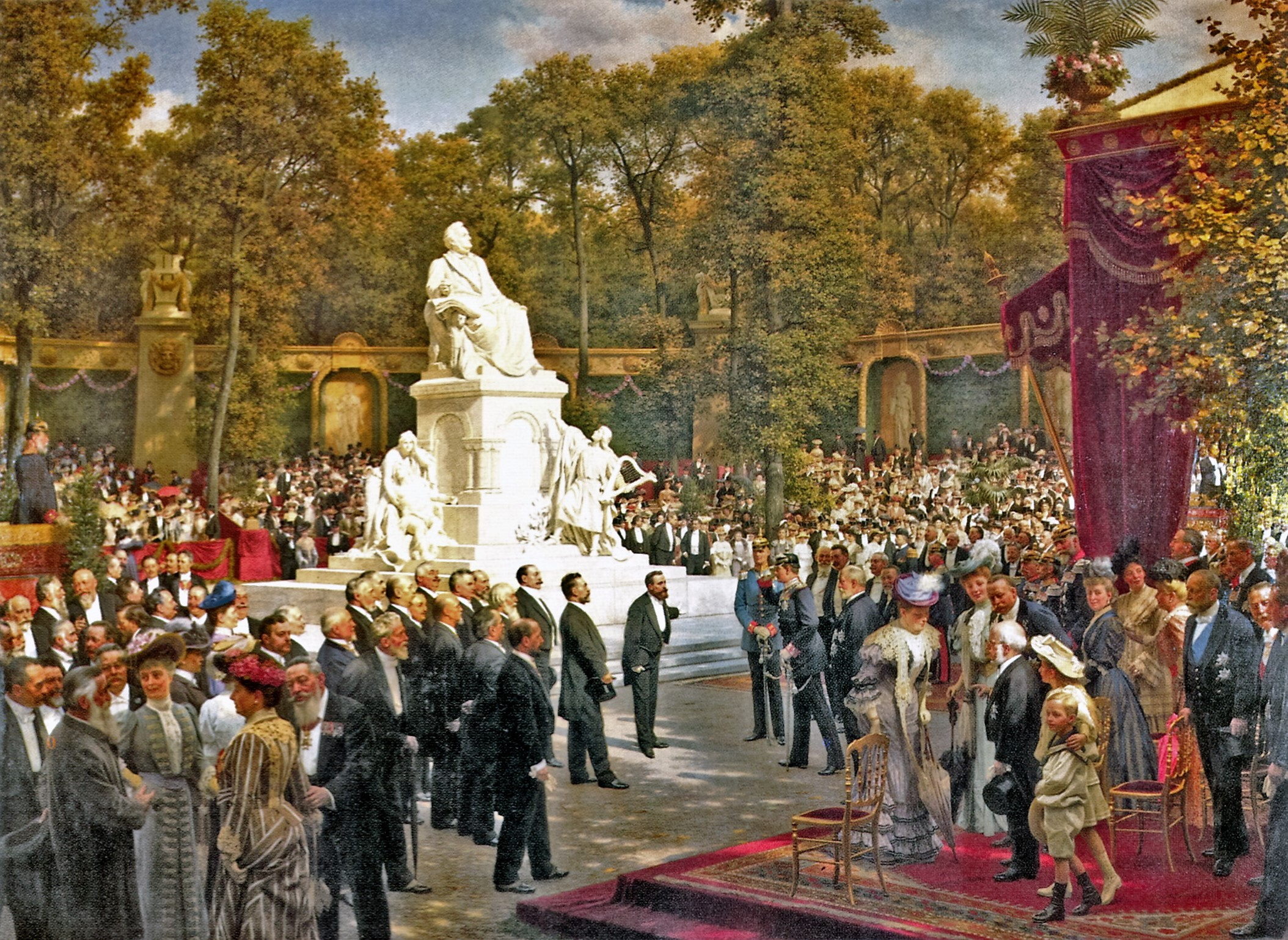 Anton von Werner: The Unveiling of the Memorial to Richard Wagne